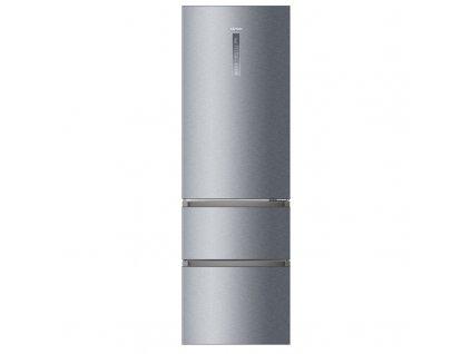 Chladnička s mrazničkou Haier A3FE835CGJE titanium