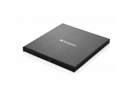 Externí DVD vypalovačka Verbatim CD/DVD Slimline USB-C + Nero