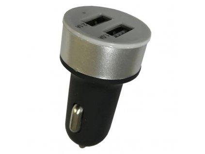 Adaptér do auta Carneo + micro USB kabel 2A - černý