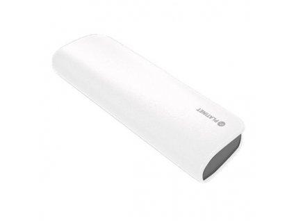 Powerbank Omega 7 200 mAh, pravá kůže - bílá