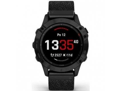 GPS hodinky Garmin fenix6 PRO Sapphire (MAP/Music) - Black/Black Nylon Band