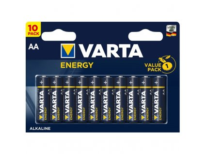 Baterie alkalická Varta Energy AA, LR06, blistr 10ks