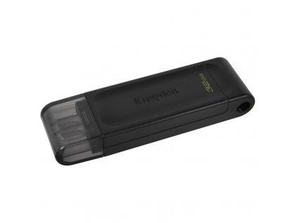 Flash USB Kingston DataTraveler 70 32GB, USB-C - černý