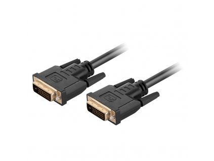 Kabel GoGEN DVI-D/DVI-D, Dual Link, 3m - černý