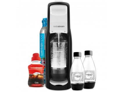 Výrobník sodové vody SodaStream JET Black & White MegaPack