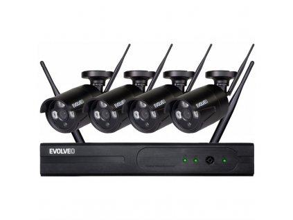 Kamerový systém Evolveo Detective WN8, bezdrátový NVR - černá