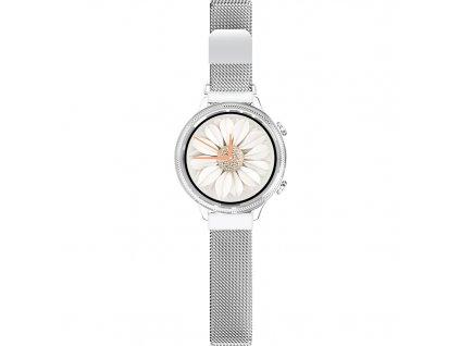 Chytré hodinky Aligator Lady Watch - stříbrné