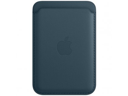 Apple kožená peněženka s MagSafe k iPhonu - baltsky modrá