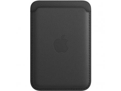 Apple kožená peněženka s MagSafe k iPhonu - černá