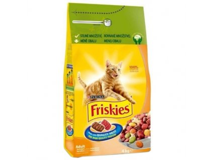Granule Friskies Cat s drůbežím 4 kg