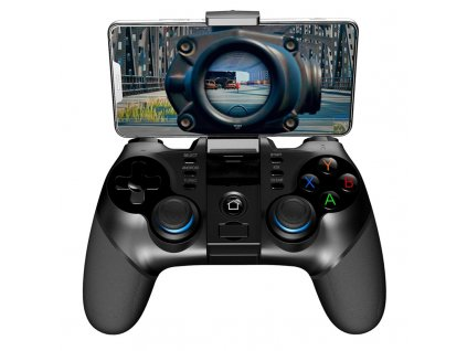 Gamepad iPega 3v1 s USB přímačem, iOS/Android, BT - černý