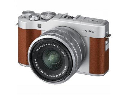 CSC fotoaparát FujiFilm X-A5 + XC15-45, hnědý