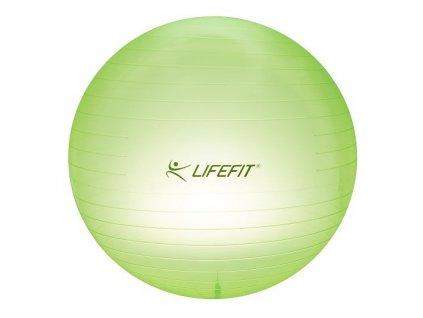 Gymnastický míč Lifefit Transparent 75cm - zelená