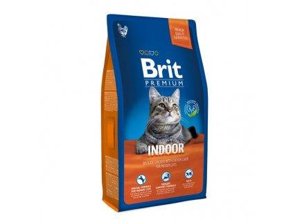 Granule Brit Premium Cat Indoor 8kg