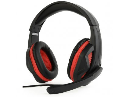 Headset Gembird GHS-03 Gaming - černý/červený