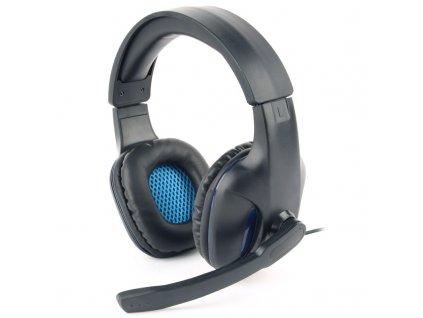 Headset Gembird GHS-04 Gaming - černý/modrý
