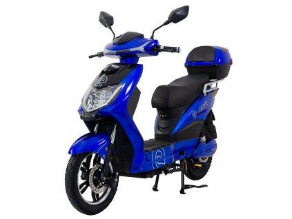 Elektrický motocykl RACCEWAY E-FICHTL, modrý-lesklý s baterií 12Ah