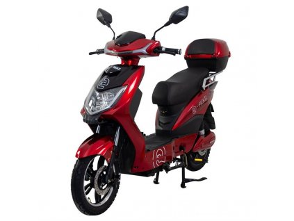 Elektrický motocykl RACCEWAY E-FICHTL, červený-lesklý s baterií 12Ah
