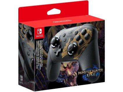 Gamepad Nintendo SWITCH Pro Controller Monster Hunter Rise Edition - černý