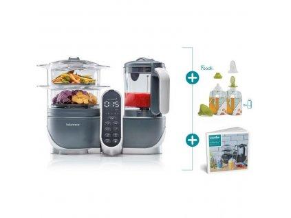 Multifunkční přístroj Babymoov Nutribaby+ Industrial Grey + Foodii