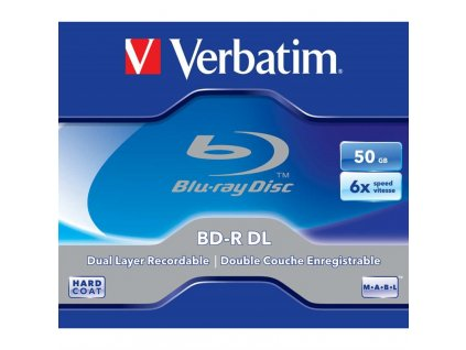 Disk Verbatim BD-R DL 50GB, 6x, jewel, 1ks