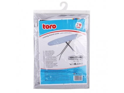 Potah na žehlicí prkno Toro 120x38 cm, nepřilnavý povrch