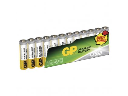 Baterie alkalická GP AAA, LR03, fólie 12ks