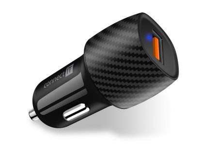Adaptér do auta Connect IT InCarz QC 3.0, USB - černý