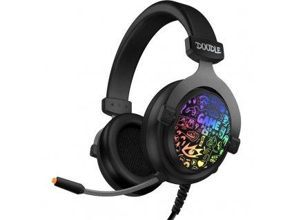 Headset Connect IT Doodle RGB - černý