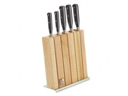 Sada kuchyňských nožů Richardson Sheffield SABATIER TROMPETTE 5 ks + blok