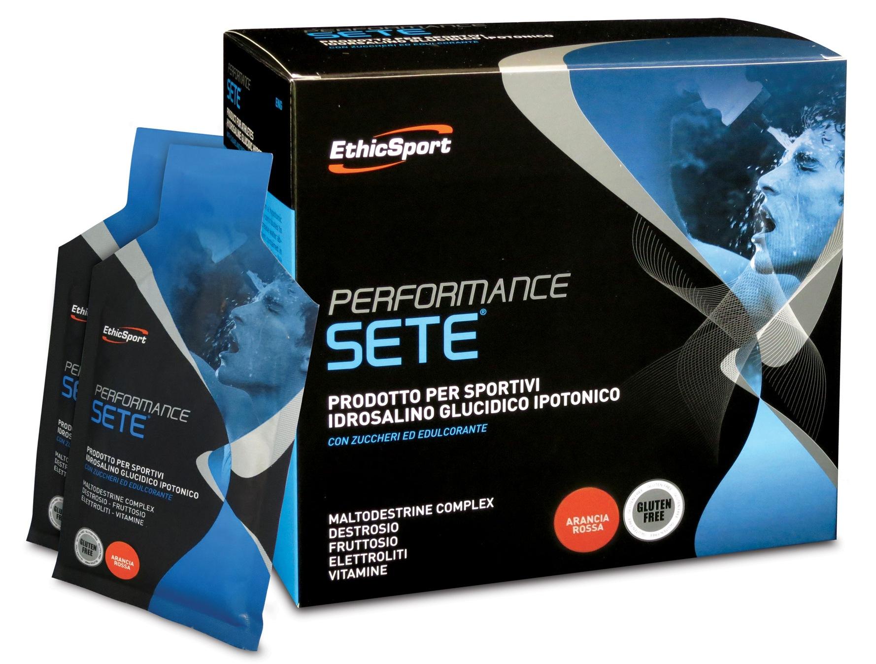 EthicSport PERFORMANCE SETE Balení: krabice 14 x 22 g (červený pomeranč)