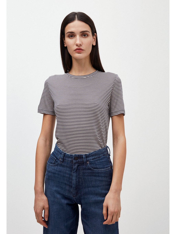 """Dámské pruhované tričko z biobavlny """"Lidaa Ring Stripes Night Sky/Kitt"""""""