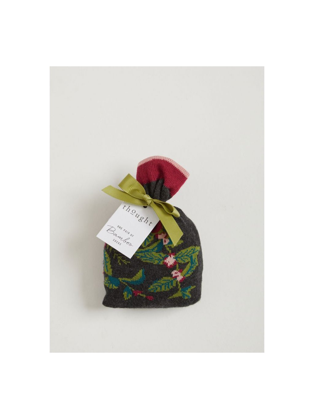 sbw4530 blooms floral blooms bamboo socks in a bag 1