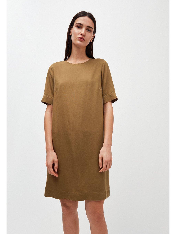 """Dámské hnědé šaty """"MARGITAA golden khaki"""""""