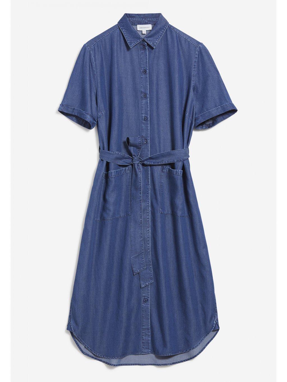 """Dámské dlouhé denimové šaty """"MAAISA"""""""