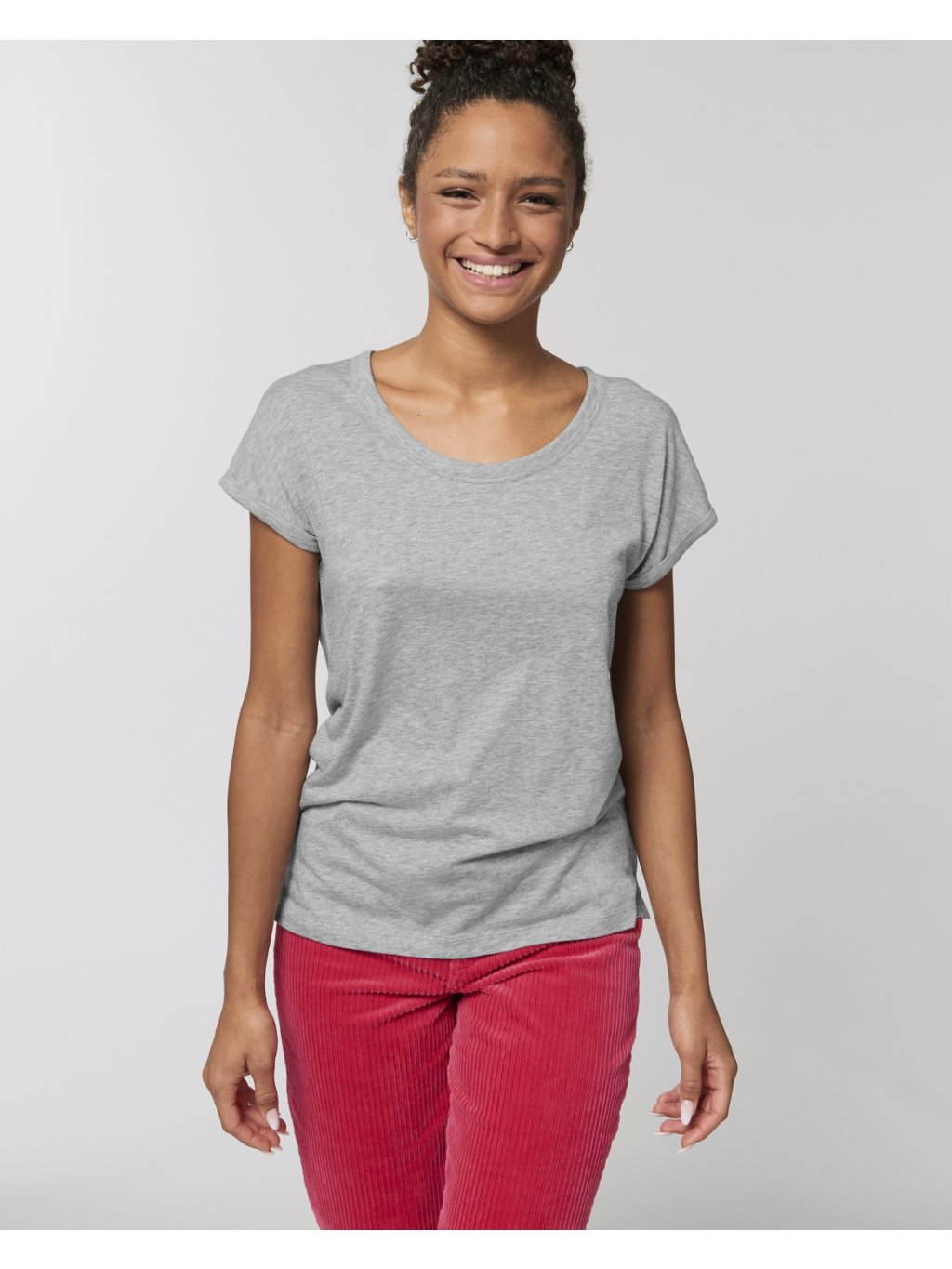 Stella Rounder Slub Heather Grey Slub Studio Front Main 5