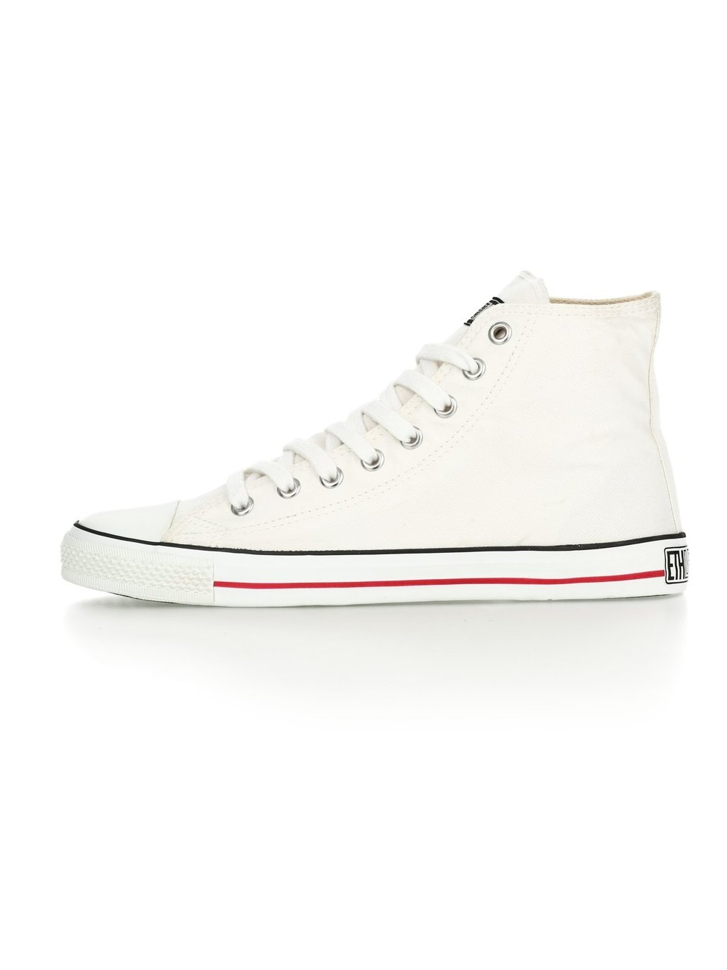 ethletic fair trainer white cap hi cut just white