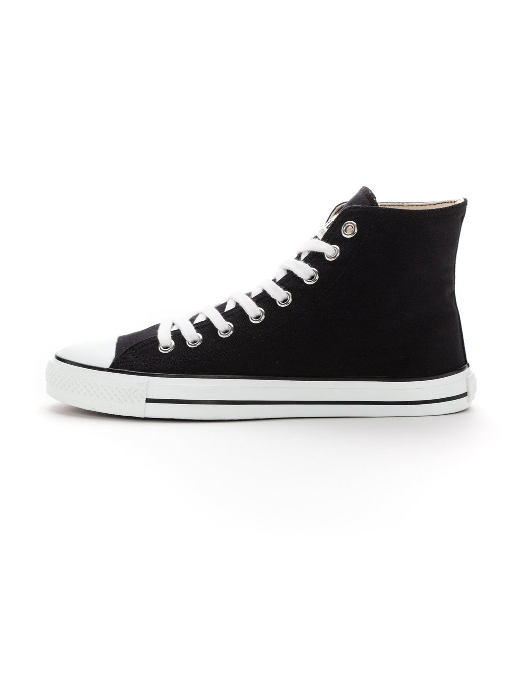 ethletic fair trainer white cap hi cut jet black j