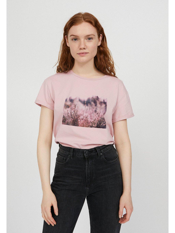 """Dámské růžové tričko s potiskem """"NAALIN heathland"""""""