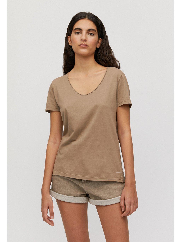 """Dámské béžové tričko """"HAADIA DYED BY NATURE natural sand"""""""