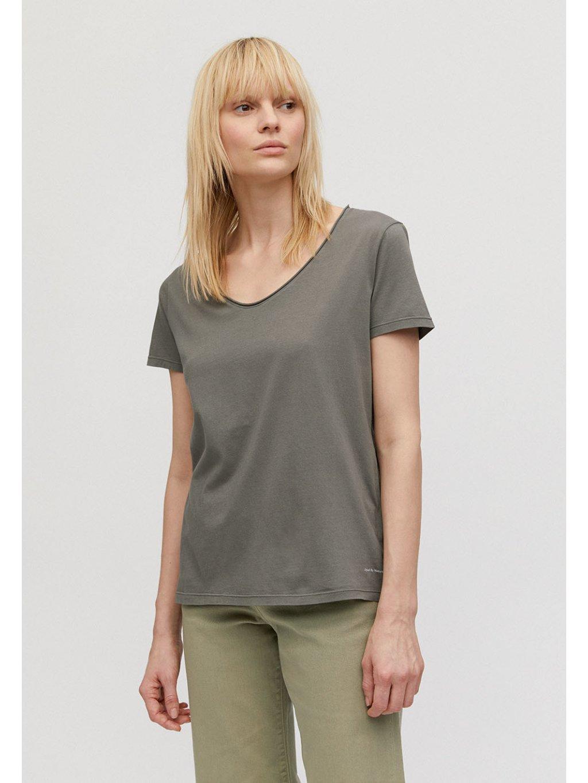 """Dámské zelené tričko """"HAADIA DYED BY NATURE natural khaki"""""""