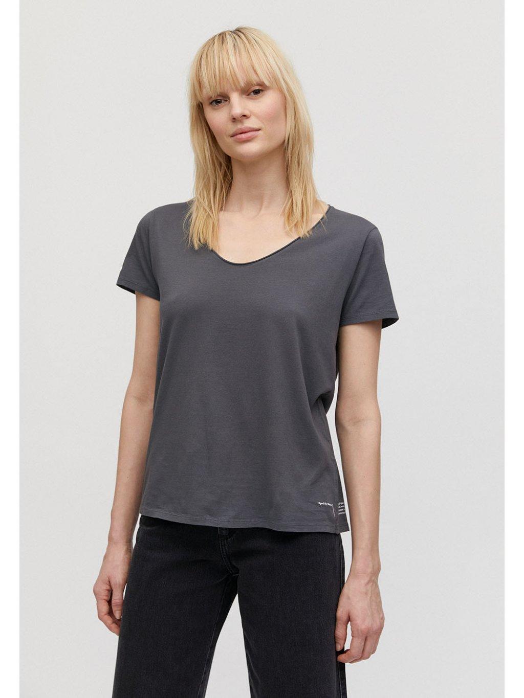 """Dámské šedé tričko """"HAADIA DYED BY NATURE natural charcoal"""""""