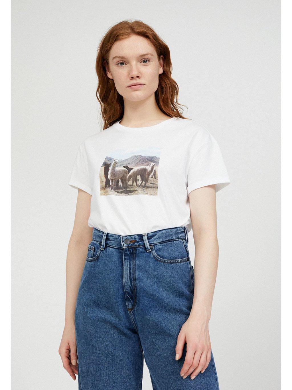 """Dámské tričko s potiskem """"NAALIN alpacas"""""""