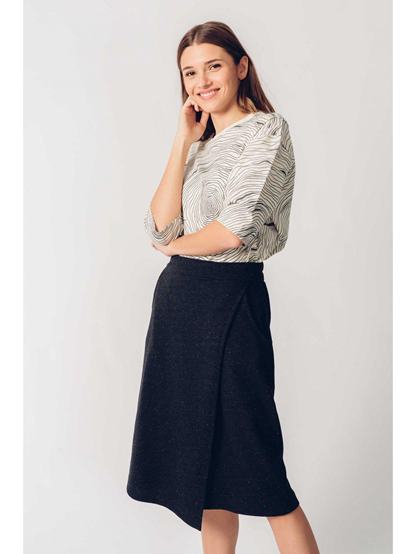 skirt recycled cotton eunate skfk wsk00462 2n f3b