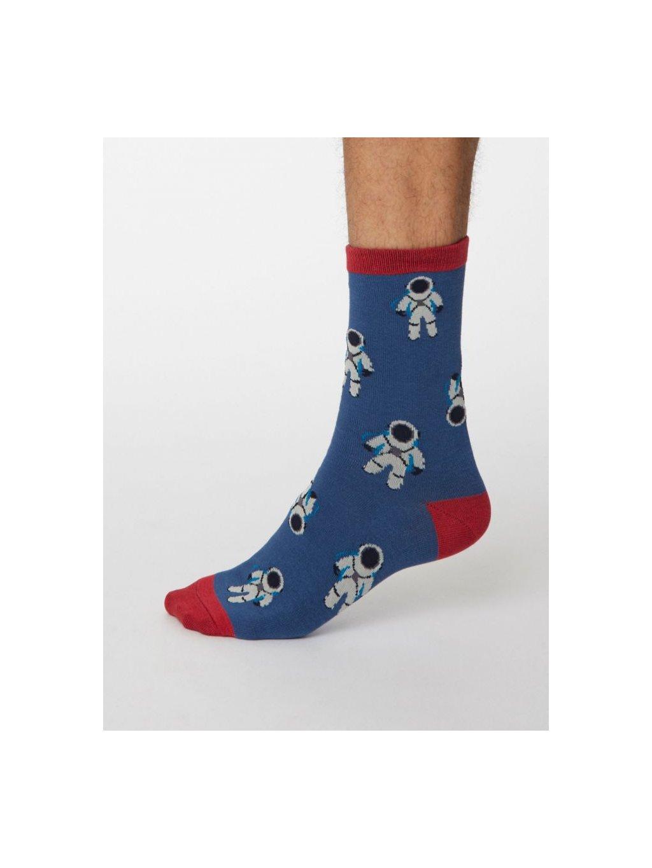 spm469 mid blue galassia bamboo space socks 1