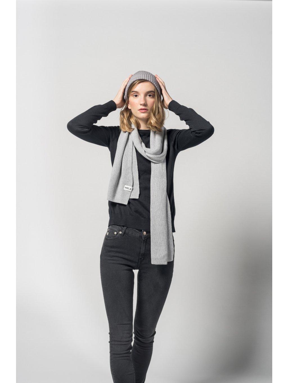 Women scarf grey 2