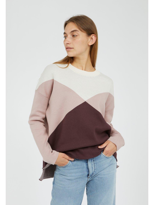 "Dámský svetr se vzorem ""DALILAA GRAPHICS aubergine"""