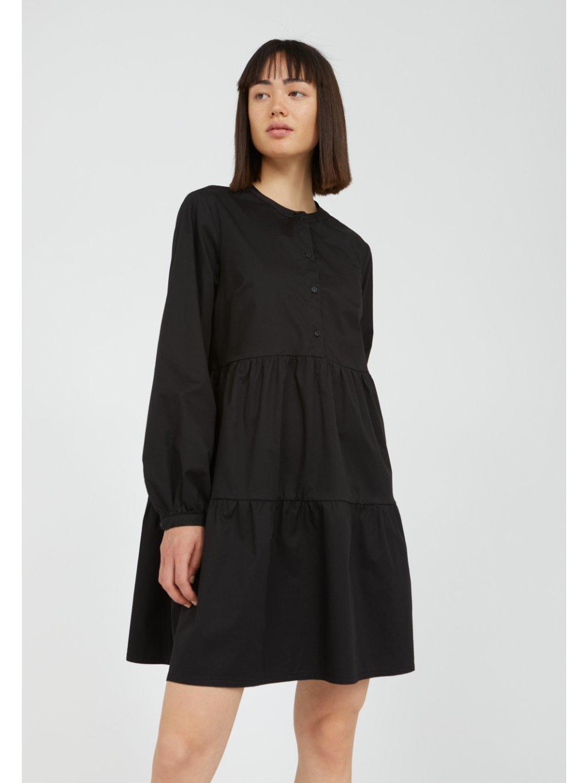 """Dámské černé košilové šaty """"KOBENHAAVN black"""""""