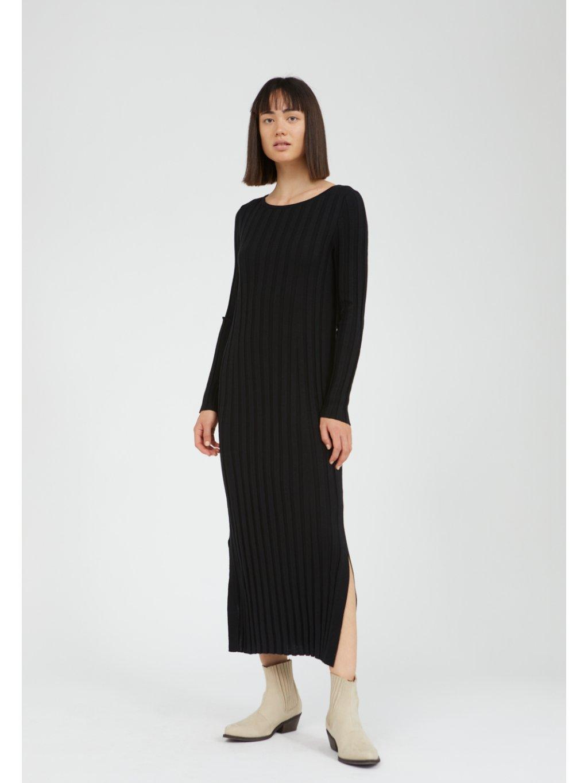 """Dámské černé pletené šaty """"EUPHORIAA black"""""""