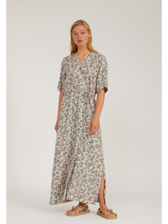 """Dámské dlouhé šaty se vzorem """"VIKTORIAA GREENHOUSE oat"""""""